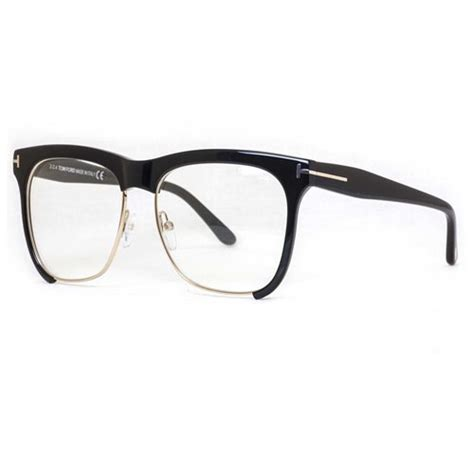 tom ford tf 366 001 shiny black gold frames square s