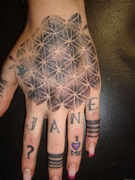 geometric pattern tattoo geometric flower flowers