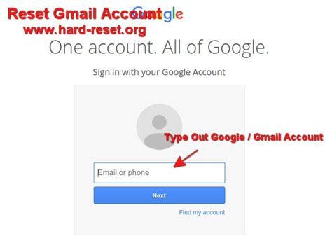 reset gmail tablet how to restore forget gmail google account password at