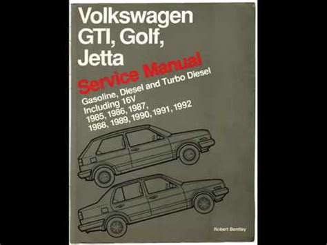 car service manuals pdf 1992 volkswagen golf on board diagnostic system volkswagen bentley service manual a2 mk2 golf jetta gas and diesel youtube