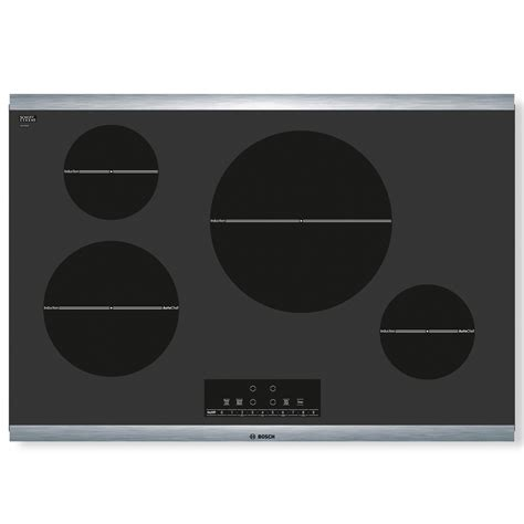 induction electric cooktop reviews shop bosch 800 series smooth surface induction electric cooktop black common 30 in actual