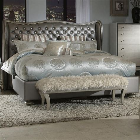 upholstered headboards houston hollywood swank graphite king bed contemporary beds