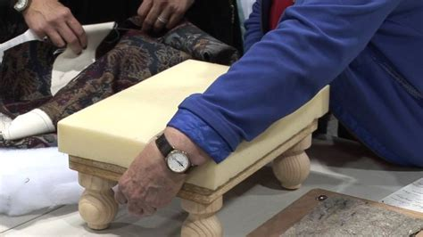 how to do upholstery upholster a footstool lesson with evelyn bouma youtube