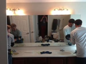 How To Remove A Vanity Mirror by How To Repair A Large Sinking Bathroom Sink Vanity