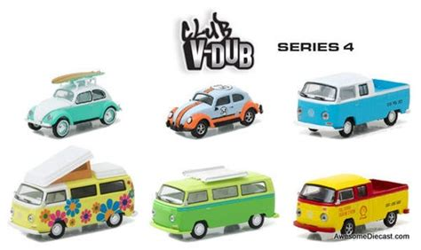 Greenlight Vdub Series Volkswagen T2 1 greenlight 1 64 club v dub 6 vehicle set series 4