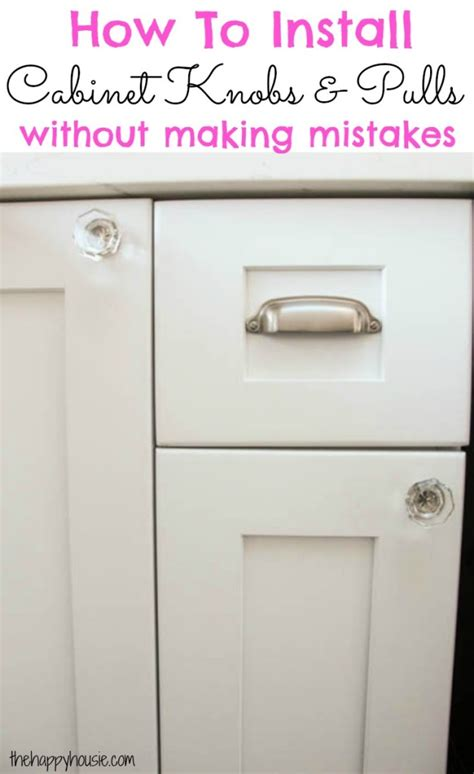 where to put knobs on kitchen cabinets how to install cabinet knobs with a template a trick for