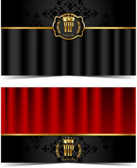 Vip Card Template Free by Luxury Vip Card Template Vectors Set 03 Free