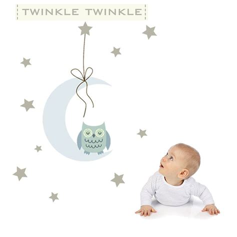 twinkle twinkle fabric wall stickers by littleprints notonthehighstreet