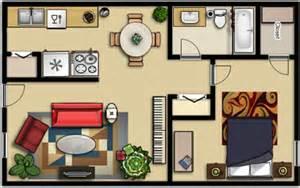 1 Bedroom Efficiency Apartment arbor park floor plans
