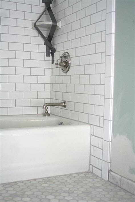 White Grout In Shower 26 white bathroom tile with grey grout ideas and pictures