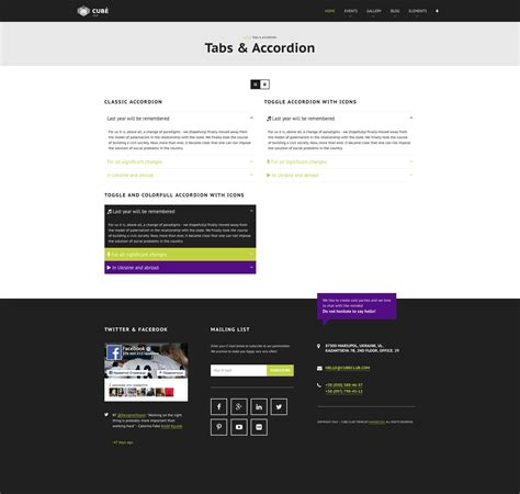 blogger themes with tabs club cube v 2 responsive html5 theme for night club by