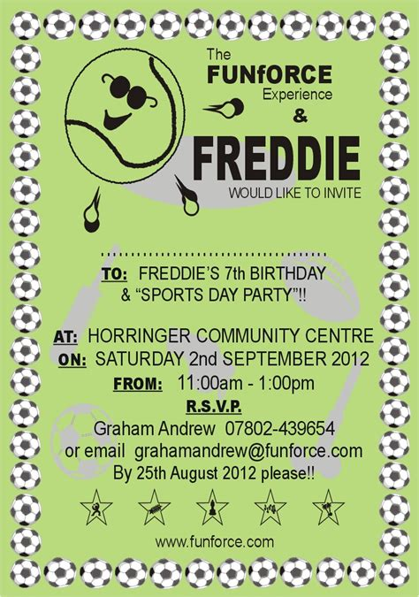 design of invitation card for sports day sport day party invitation card with plain green