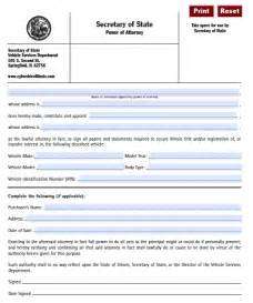 free vehicle power of attorney form illinois pdf fillable