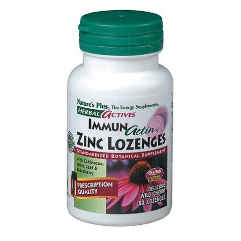 Herbal Zinc immunactin zinc lozenges herbal actives 60 tabs