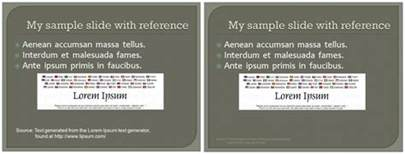 citations guidelines for adding references to powerpoint