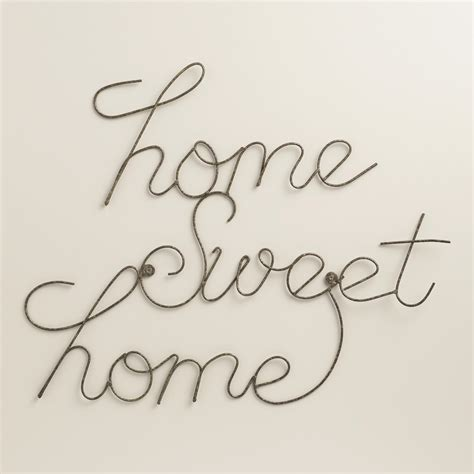 home sweet home wall decor wire home sweet home wall art world market