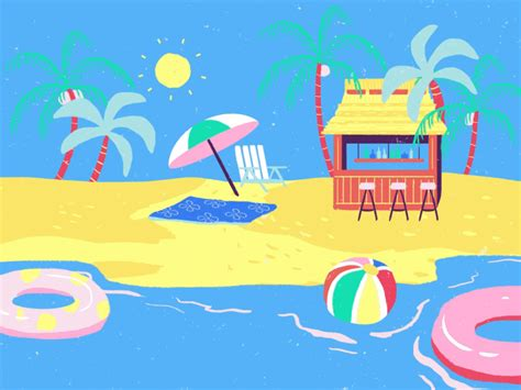 wallpaper gif beach animated beach www pixshark com images galleries with