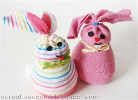 easter craft ideas an adorable diy sock bunny for easter