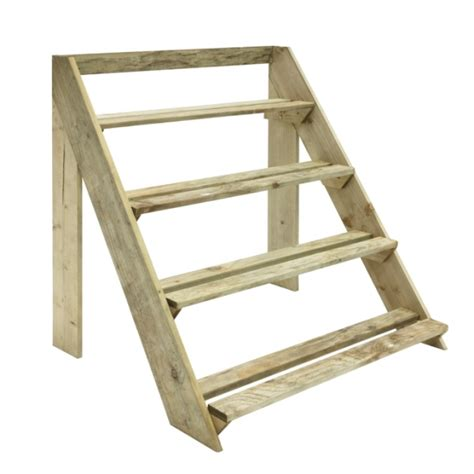 Wooden Step Planter by Step Ladder Planter