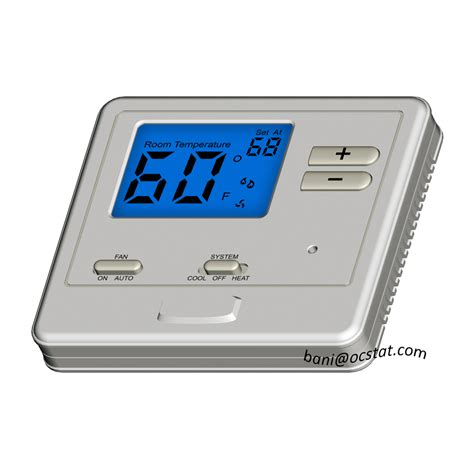 Best Programmable Room Thermostat by Programmable Or Non Programmable Blue Backlight Thermostat