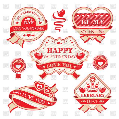 valentines day stickers set of s day stickers 46541 design elements