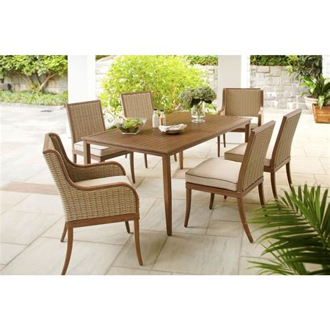 Hton Bay Larmont 7 Piece Patio Dining Set 720 010 004 Patio Dining Sets Home Depot