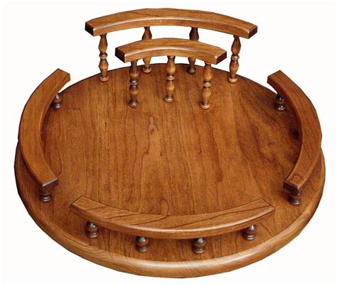 Lazy Susan Table Top by Solid Wood Custom Lazy Susan With Napkin Holder