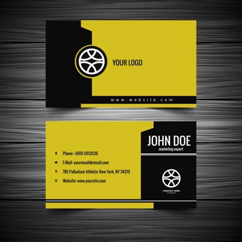 yellow business card template free yellow and black business card free vectors ui