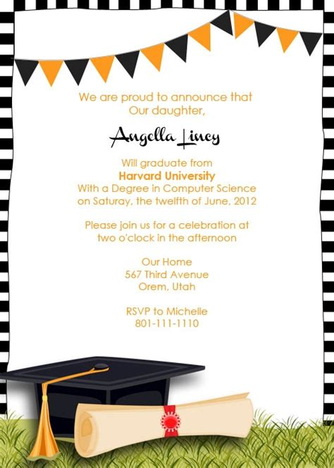 Graduation Announcement Templates Free Invitation Template Graduation Invitation Template