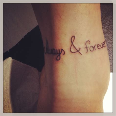 tattoo love always brother sisters love ankle tattoo always forever