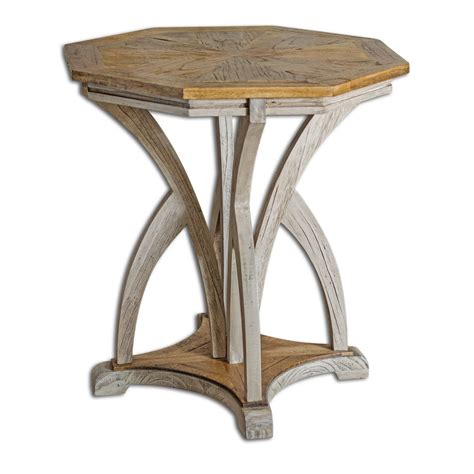 uttermost accent table uttermost ranen aged white accent table uttermost 25623 at