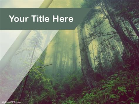 template forest free free forest powerpoint templates myfreeppt
