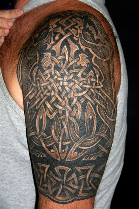 druid tattoos celtic knot tattoos3d tattoos