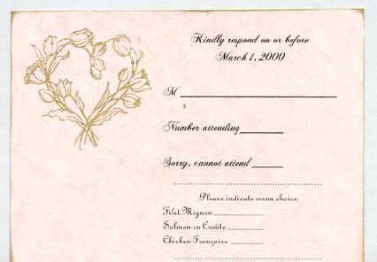 wedding response wording response card wording