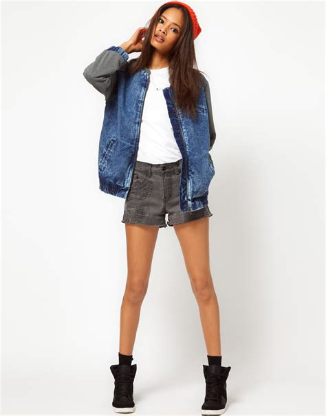 are jean jackets in style for spring 2014 newhairstylesformen2014 women s bomber denim jackets for spring summer