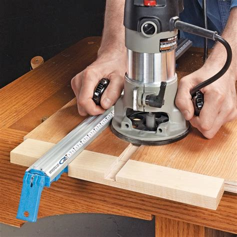 guide woodworking simple router dado guide woodsmith tips
