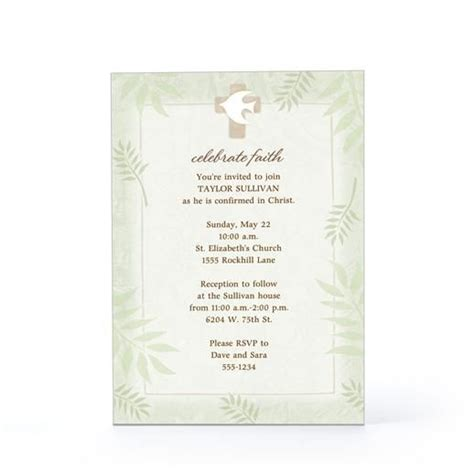 confirmation invitations templates confirmation invitation wording confirmation celebration
