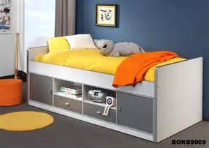 lit sur 233 lev 233 enfant avec rangement blanc gris lit