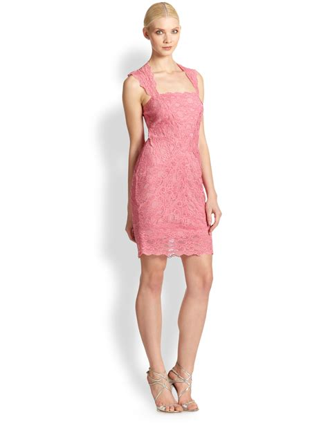 Nicoles Dress by Miller Stretch Lace Dress In Pink Lyst