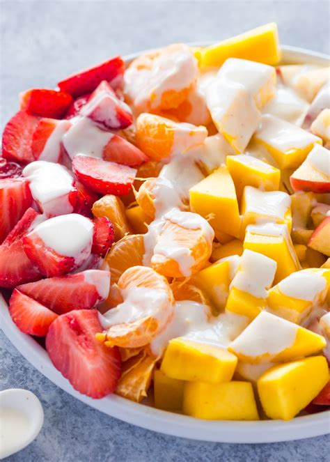 fruit yogurt salad fruit salad with healthy honey yogurt sauce gimme delicious