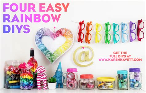 Home Decoration Craft Ideas by 4 Easy Rainbow Diys Karen Kavett