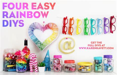 Diy Home Decoration Ideas by 4 Easy Rainbow Diys Karen Kavett