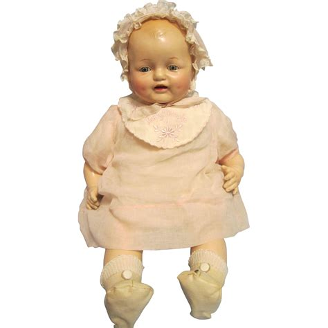composition doll dimples horseman composition 16 quot baby dimples doll from