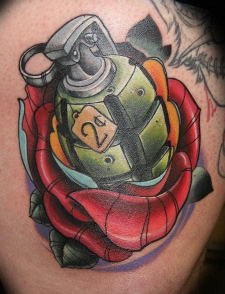 new school grenade tattoo forbidden images tattoo art studio tattoos new school