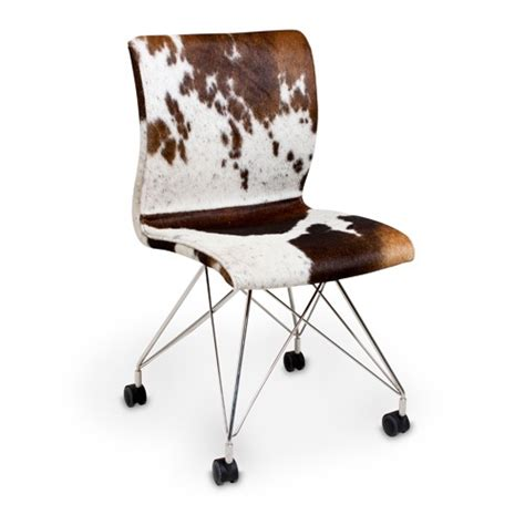 Cowhide Office Chair - cowhide rolling chair cowhide leather