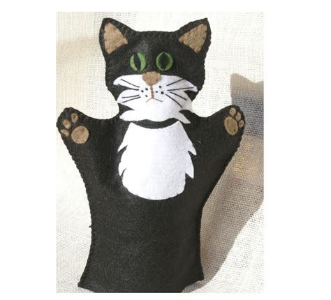 Clarence the cat  hand puppet   Felt