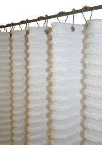 White Chenille Shower Curtain by Shower Curtain With Chenille Inspiration For The Bath