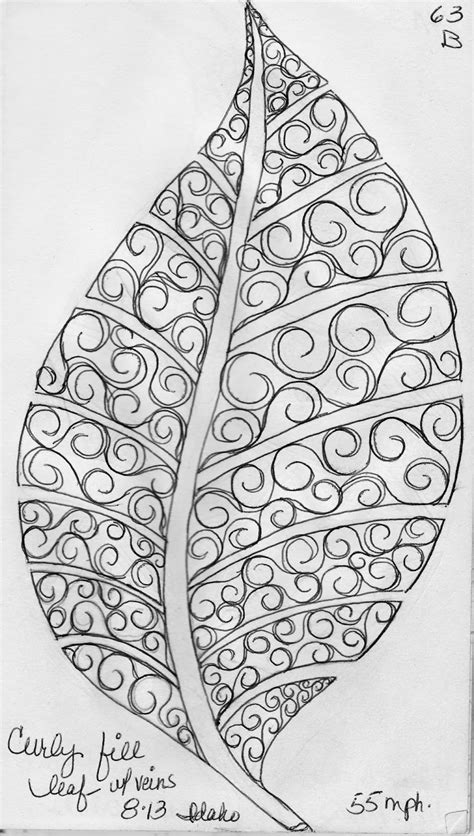 pattern design sketch luann kessi sketch book leaf designs 4
