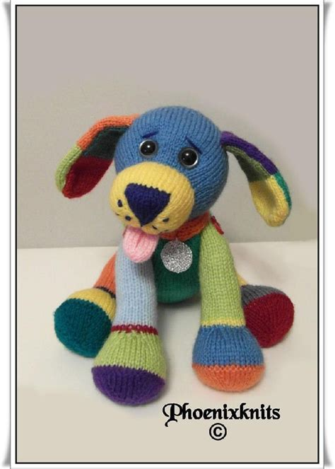 Kaos Feed Me Green jacob the puppy knitting pattern by phoenixknits