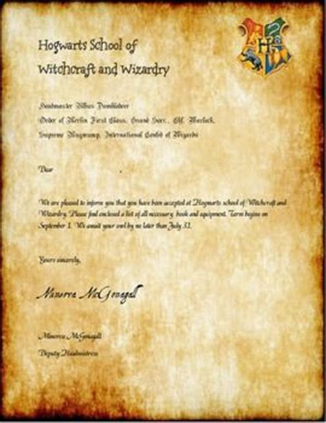Hogwarts Acceptance Letter Editable 25 Best Ideas About Harry Potter Letter On